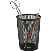 "Rolodex Wire Mesh Jumbo Pencil Holder, Black, 5 1/8""H x 4 3/8"" Diameter"