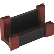 Rolodex Wood and Leather Business Card Holder, Black and Mahogany