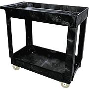 Rubbermaid 2-Shelf Service/Utility Cart, Black (FG9T6600BLA)