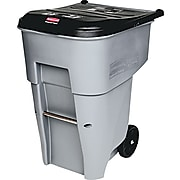 """Rubbermaid Secured Document Roll-out Container, 65 Gallon Capacity, Gray, 41 7/8""""H x 25 3/8""""W x 32 3/8""""D"""