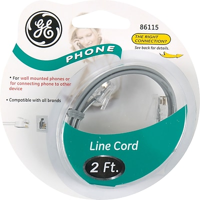 Power Gear Telephone Line Cord (2 ft.)