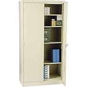 "Tennsco Standard Steel Storage Cabinet, Non-Assembled, 72""H x 36"" W x 18D"", Putty"