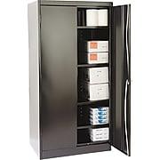 "Tennsco® Standard Steel Storage Cabinet, Non-Assembled, 72Hx36Wx24D"", Black"