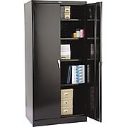 """Tennsco Deluxe Steel Storage Cabinet, 4-Shelf, Black, 78""""H x 36""""W x 24""""D"""