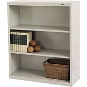 "Tennsco Metal Bookcases, 3-Shelves, 40"", Standard, Putty (B-42PY)"