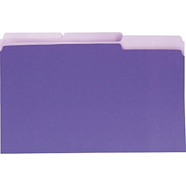 Universal Interior Top Tab File Folders, Violet, Legal, Holds 8 1/2