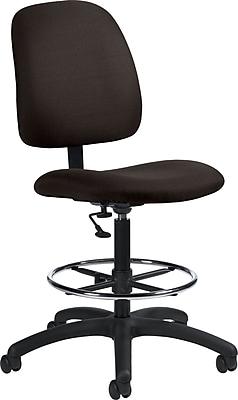 Global Goal® Ergonomic Fabric Drafting Chair, Black
