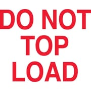 "Labels, ""Do Not Top Load"", 3"" x 5"", Red/White, 500/Roll"