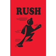 """Tape Logic® Shipping Label, Rush, 2"""" x 3"""", Fluorescent Red, 500/Roll"""
