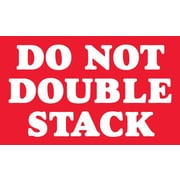 "Staples® ""Do Not Double Stack"" Labels, Red/White, 5"" x 3"", 500/Rl"