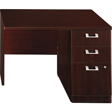 Bush Business Furniture Quantum 42W RH Single Pedestal Return, Harvest Cherry (QT6405ACS)