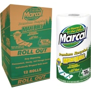 Marcal Paper Towels, 2-Ply, White, 12/Ct, 140 sheets per roll