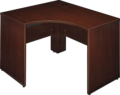 Bush Business Furniture Quantum 48W x 42D Right Handed Corner Desk, Harvest Cherry (QT0465ACS)