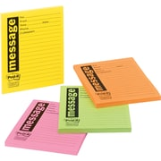 """Post-it® """"Important Message"""" Telephone Message Pads, Assorted Neon Colors"""