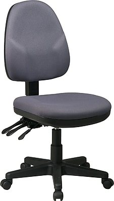 Office Star Fabric Computer and Desk Office Chair, Gray, Armless Arm (36420-226)