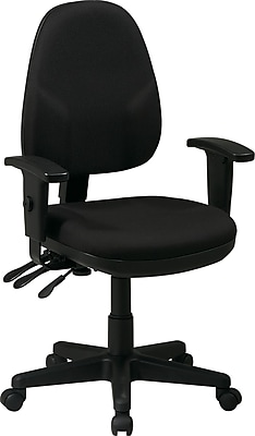 Office Star Fabric Computer and Desk Office Chair, Black, Adjustable Arm (36427-231)