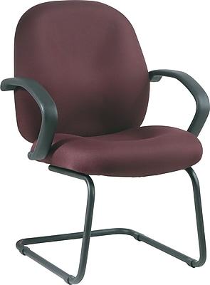 Office Star™ Distinctive Fabric Guest Chair, Burgundy
