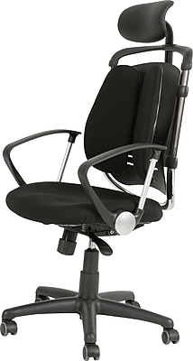 Balt Spine Align® Ergonomic High-Back Executive Office Chair, Fabric, Black, Seat: 20
