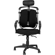 "Balt Spine Align® Ergonomic High-Back Executive Office Chair, Fabric, Black, Seat: 20""W x 21""D, Back: 20""W x 23""H"