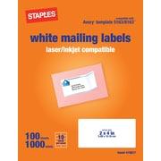 Staples® White Inkjet/Laser Shipping Labels