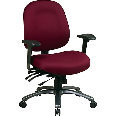 Office Star Fabric Conference Office Chair, Burgundy, Adjustable Arm (8512-227)