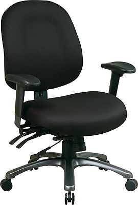 Office Star Fabric Conference Office Chair, Black, Adjustable Arm (8512-231)