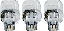 GE Cord Management, GE Telephone Cord Detangler, Black, 3 Pack