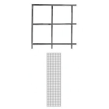 Panneau grillagé de 2 pi x 8 pi, noir