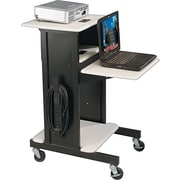 Balt® Audio Visual Adjustable Presentation Cart, Black