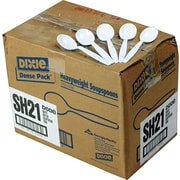 Dixie® Heavy-Weight Polystyrene Plastic Soup Spoons by GP PRO, White, 1000/Carton (SH217)