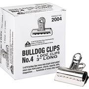 X-ACTO #4 Bulldog Clips, 3 Inches, Box of 12