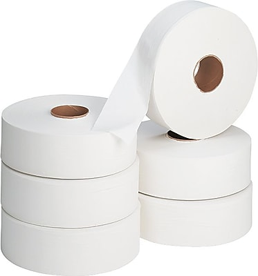 Envision® 2-Ply Jumbo Jr. Toilet Paper by GP PRO, White, 2000' Per Roll, 6 Rolls/Case (13102)