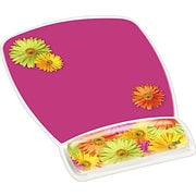 3M Designer Gel Mouse Pad with Wrist Rest, Daisy Design by