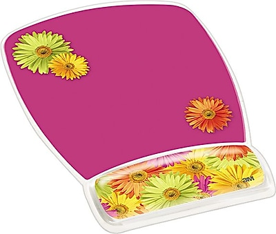 3M™ Designer Gel Mouse Pad with Wrist Rest, Daisy Design