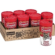 Campbells® Microwaveable Soup at Hand, Classic Tomato, 10.75 oz. Cans, 8 Cans/Box