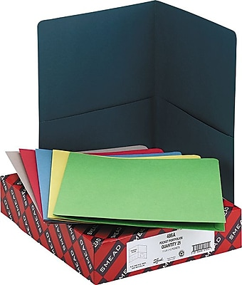 Smead Pocket Portfolios, Assorted Colors, Letter, Size, 8 1/2