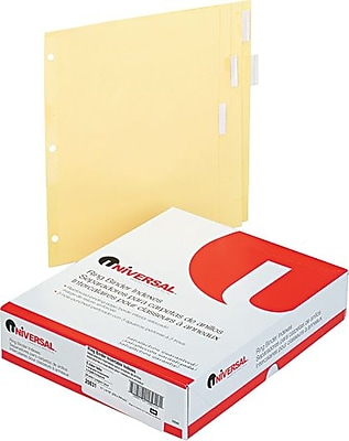 Universal Economical Insertable Tab Indexes, Buff, 5 Clear Tabs, 8 1/2