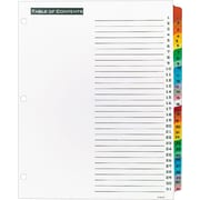"Office Essentials® Table 'N Tabs Dividers, 1-31 Tab, Multicolor, 8 1/2"" x 11"", 1/St"