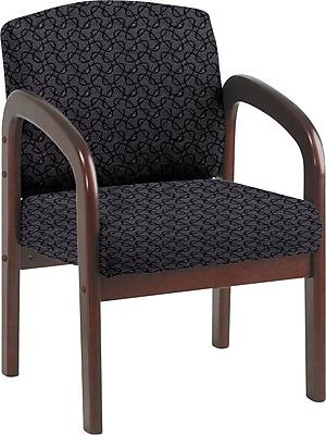 Office Star Custom Mahogany Wood Visitor's Chair, Ash