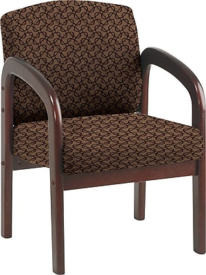 Office Star Custom Mahogany Visitor's Chair, Nugget