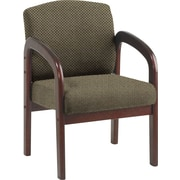 Office Star Custom Mahogany Wood Visitor's Chair,  Gold Dust