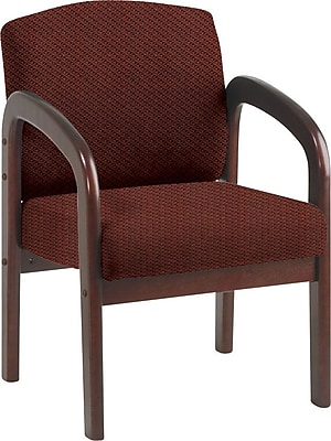 Office Star Custom Mahogany Wood Visitor's Chair, Wine