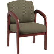 Office Star Custom Cherry Wood Visitor's Chair, Gold Dust