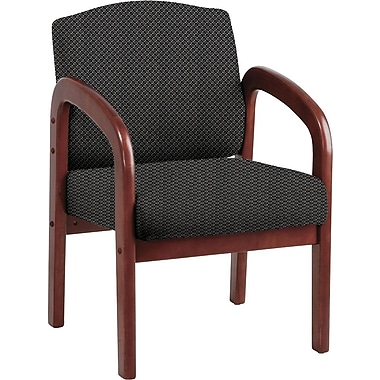 Office Star Custom Cherry Wood Visitor's Chair, Shale