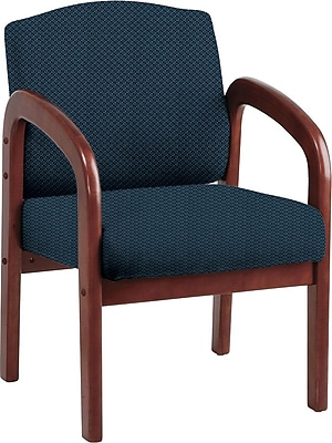 Office Star Custom Cherry Wood Visitor's Chair, Blue Galaxy