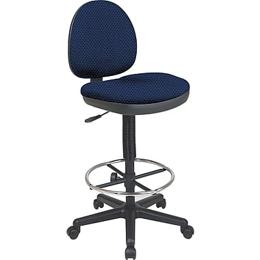 Office Star Custom Drafting Chair, Midnight Blue
