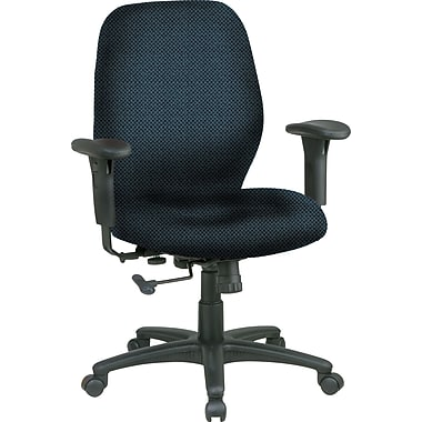 Office Star™ Fabric Managers Office Chair, Blue Galaxy, Adjustable Arm (3121-296)