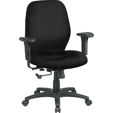 Office Star™ Fabric Managers Office Chair, Jet, Adjustable Arm (3121-297)