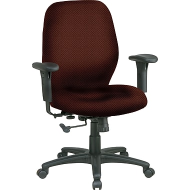 Office Star® Fabric Managers Office Chair, Wine, Adjustable Arm (3121-298)