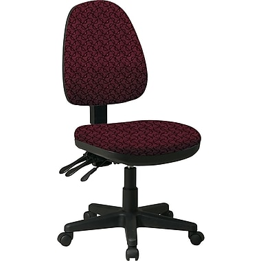 Office Star Custom Ergonomic Armless Chair, Inferno